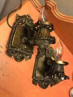 Riddle Antique Art Deco Sconces vtg hardware fixtures 1920's-30's pair Nouveau
