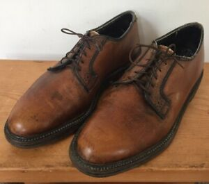 Vintage Eddie Bauer Lace Up Brown Leather Soled Oxford Dress Shoes 40.5 7.5D