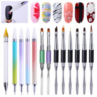 Dual-ended Acrylic Painting Pen Liner Drawing UV Gel Brush  Nail Tool