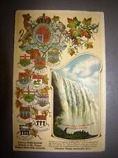 antique private postcard 1910 niagra falls embossed painting canada provinces
