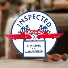 "NASCAR Inspected sticker decal old school hot rod NHRA drag racing 4"""
