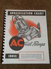 AC Fuel Pumps Catalog 1930-1948 Listings,Part #s,Applications,Parts List,MORE...