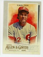 2020 Topps Allen & Ginter #60 STEVE CARLTON Philadelphia Phillies BASEBALL CARD