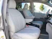 Clazzio Leather Seat Covers for Toyota Sienna LE SE 2015 2016 with 8 passenger