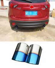 Steel Muffler Exhaust Tail Pipe Tip for 2012-2018 Mazda CX-5 CX5 2PCS Blue