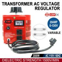 20A 110V 2000W Variac-Variable AC Power Regulator Transformer 0-130V 20A 【USA】