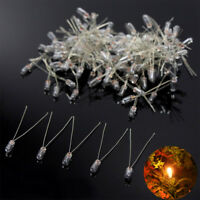 100pcs 3mm Clear Miniature 12V Grain of Wheat Bulbs Warm White MP02W