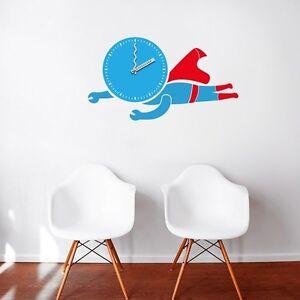 Bedroom, Nursery Or Playroom Kids Clock 3D Wall Decal Decoration Superman