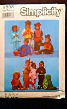 Simplicity, Easy to Sew Pattern 9898 - Toddler Costumes, Size A (1/2 - 4), Uncut