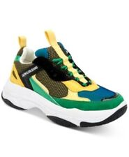 NWB CALVIN KLEIN Men's Marvin Sneaker, Size 9.5, Black/Green/Lemon