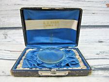 Antique Button Pendant Box E. D. Horn Lima Ohio Latched Black Wood Rare Case