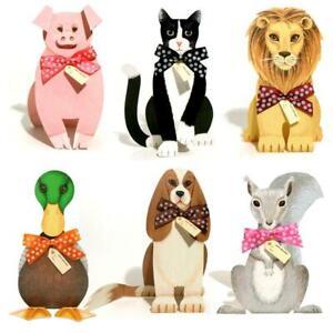 36 Lion, Pig, Squirrel, Duck, King Charles Spaniel & Cat 3D Birthday Card (EG)