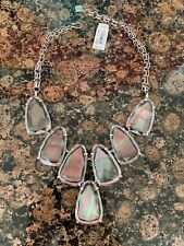 Kendra Scott Harlow Suspended Glass Statement Large Necklace NWT $225