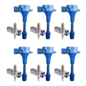 Set of 6 Denso Platinum TT Spark Plug PKH16TT + 6 Ignition Coils For Infiniti