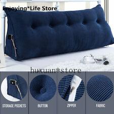 Soft Headboard Triangular Wedge Reading Lumbar Pillow Backrest Bolster Cushion