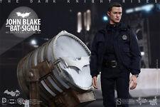 TDKR~OFFICER JOHN BLAKE & BAT-SIGNAL~SIXTH SCALE FIGURE SET~MMS274~HOT TOYS~MIB