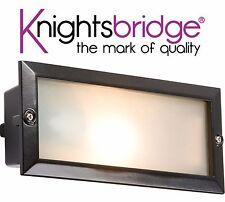 Knightsbridge BL01BK Moderno Giardino Esterno Sospeso Muro Mattoni Luce IP44