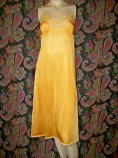 Vintage Vassarette Sunshine Silky Nylon Plus Size Empire Slip Nighty Lingerie 36