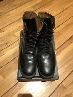 Diesel Black Leather Boots D-DEPP Kross D-Line Size 42 / 8.5 US Mens Shoes