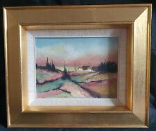 Ölgemälde abstrakte Landschaft signiert E. Baum