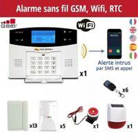 Alarme maison sans fil GSM,Wifi, ligne téléphonique immunise les animaux -25kg