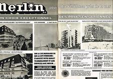 PUBLICITE ADVERTISING 055 1976   MERLIN IMMOBILIER  ( 2 p) appartements témoins