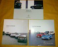 3 X Mercedes Benz Model Car Catalogues 2003, 2009/10, 2010/11 Books.