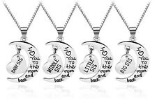 Sisterhood Sisters Little Middle Big Sis Silver Color Love Heart Necklace Gift