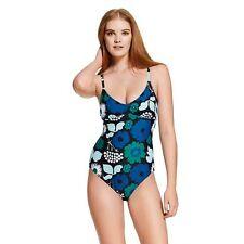Marimekko Target Swimsuit Onepiece - Kukkatori Print Blue - Sold Out! Size Large