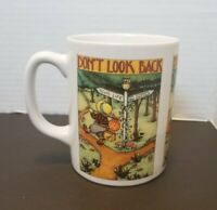 "Mary Engelbreit Ink 1994 Coffee Mug ""Don't Look Back"" 2020 Collectible Country"
