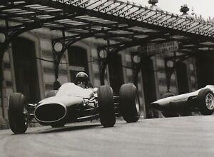 "BRABHAM BT11 CLIMAX 1964 Monaco Grand Prix GURNEY Schlegelmilch 7x9"" Photo Print"