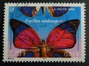 Timbre poste. France. n°3332. papillon sardanapale
