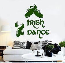 Vinyl Wall Decal Irish Dance Pub Ireland Dancer Celtic Art Stickers (ig4283)