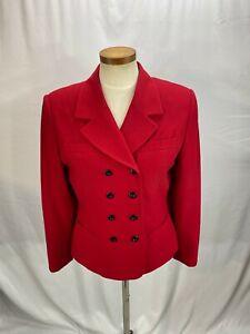 Kasper Women's Red Double Breasted Blazer Jacket 8P