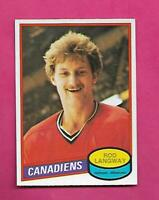 1980-81 OPC # 344 CANADIENS ROD LANGWAY  ROOKIE EX-MT CARD (INV# D1239)