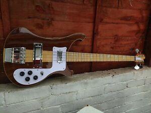 24 HOUR COURIER Custom neck through Bass Guitar 34 inch scale 20 frets