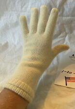 Sweet Vintage Pair of White Angora and Wool Knit Ladies Gloves One Size