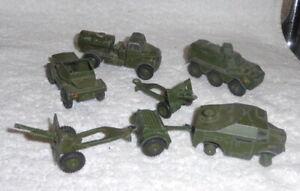 Job lot vintage dinky Military vehicles (7)