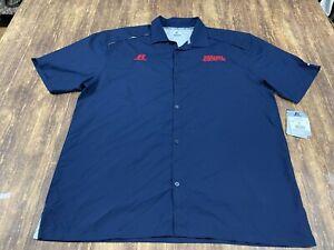 Harlem Globetrotters Men's Blue Button-Down Shirt - 2XL - NWT - New