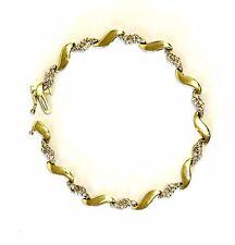 "10k yellow gold 1ct SI1 I diamond tennis bracelet 7.3g estate vintage antique 7"""