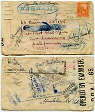 NEW ZEALAND WW2 NAVAL MAIL CENSORED 1943-44 WELL TRAVELLED PAPUA NEW GUINEA etc