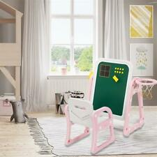 ​Brand New Children's plastic table and chair drawing board with shooting ring​