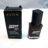 "Avon SPEED DRY+ 30 Nail Enamel ""EXPRESS MOCHA"" 12 ml 0.4 oz NEW NIB imp"