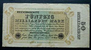 GERMANY - 50 MILLIARDEN MARK P120 1923