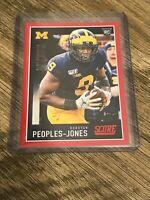 Donovan Peoples-Jones 2020 Panini Score Red Parallel Rookie Card #422