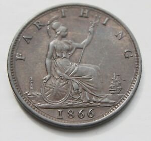 GB Farthing – 1866  - AUNC -  Superb Coin (Je1)