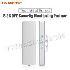 2 Pcs Outdoor Wireless Access Point 5GHz WiFi Bridge Long Range CPE Booster CFUK