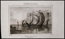 1842, Gravure ancienne Vaisseaux anglo-Saxons / Angleterre, bateaux, marine