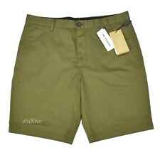 NWT $295 Burberry London Men's Olive Green Cotton Chino Shorts 34 36 AUTHENTIC