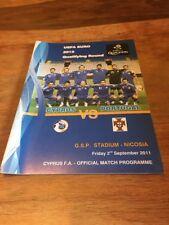Partido de calificación Euro 2012 Chipre V Portugal 02.09.2011